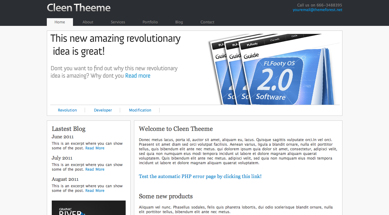 Free Download Cleen Theeme Nulled Latest Version