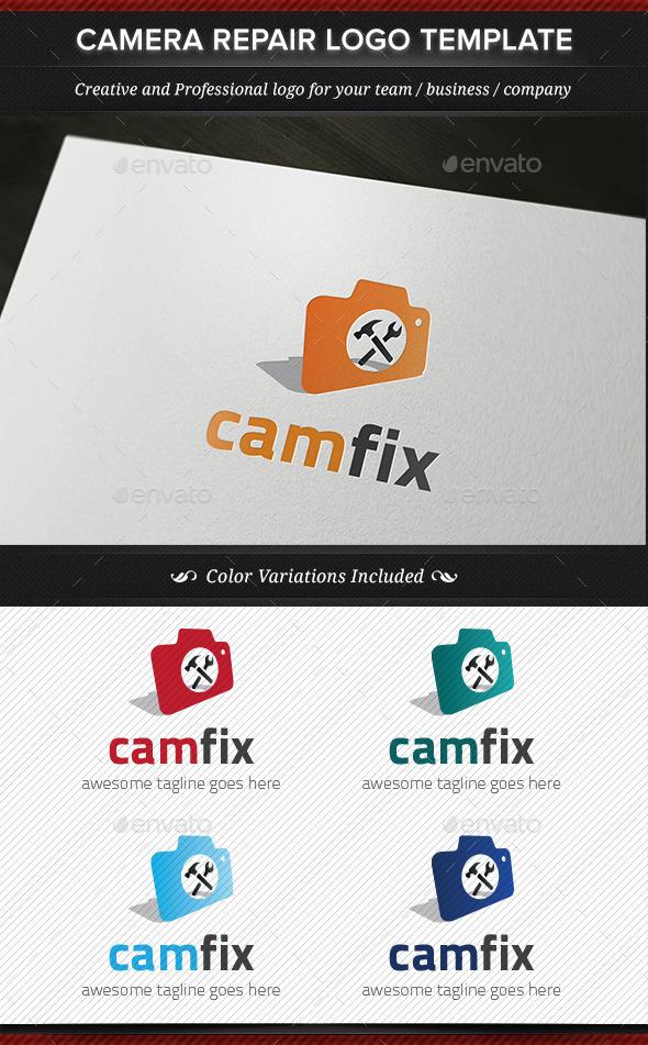 CamFix Camera Repair Logo Template - Objects Logo Templates