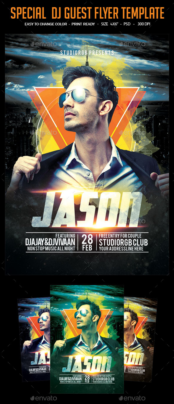 Special  Dj Guest Flyer Template - Clubs & Parties Events