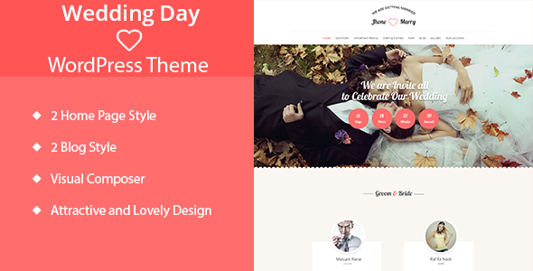 Wedding Day - Wedding WordPress Theme - Wedding WordPress
