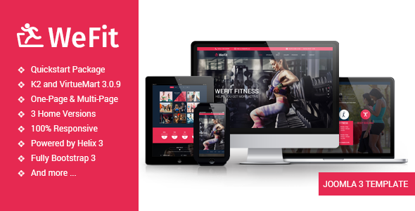 Wefit – Health, Sport, Gyms and Trainers Template