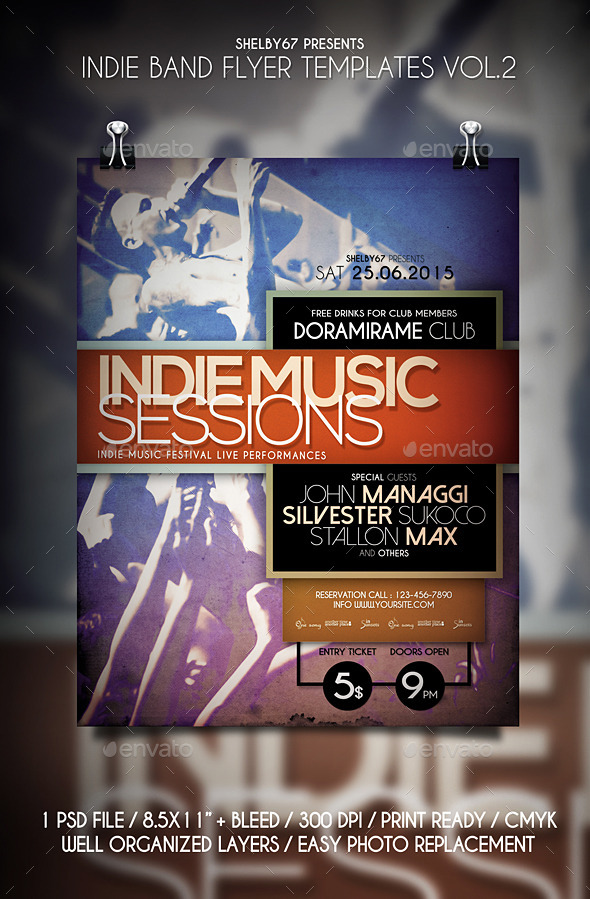 Indie Band Flyer Templates Vol.2 - Events Flyers