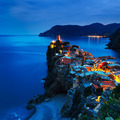Vernazza village, aerial view on sunset. - PhotoDune Item for Sale