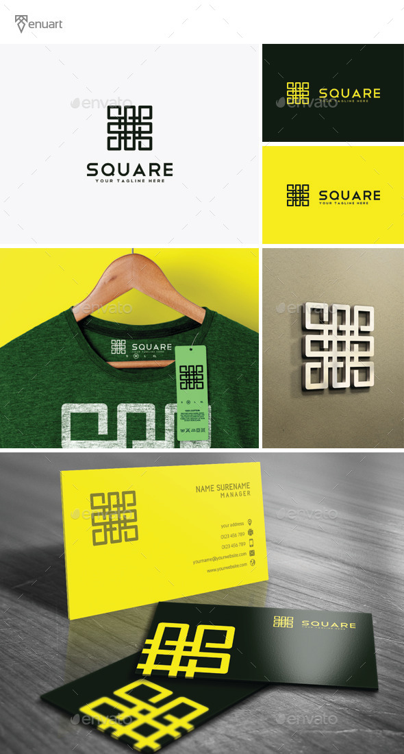 Square Logo - Vector Abstract