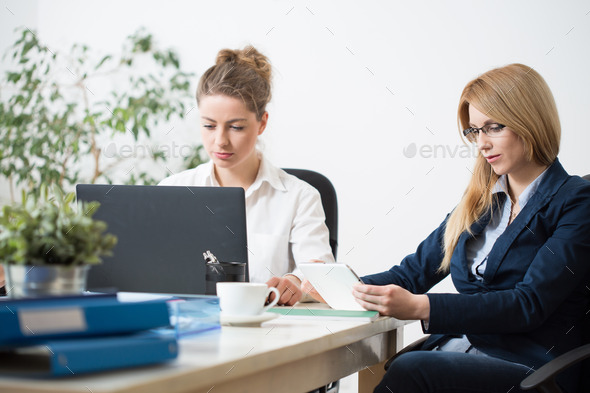 Daily morning at work - Stock Photo - Images