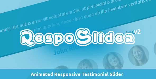 RespoSlider - Responsive Testimonial Slider - CodeCanyon Item for Sale