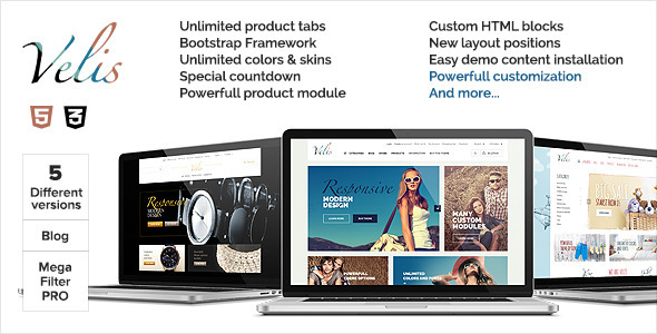 Velis - Responsive Multi-purpose OpenCart Theme