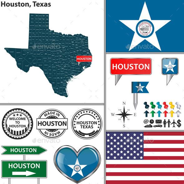 Houston, Texas - Travel Conceptual