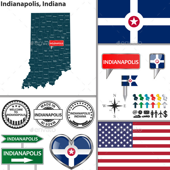 Indianapolis, Indiana - Travel Conceptual