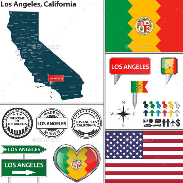 Los Angeles, California - Travel Conceptual