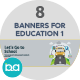 Flat Concept Banners for Education - GraphicRiver Item for Sale