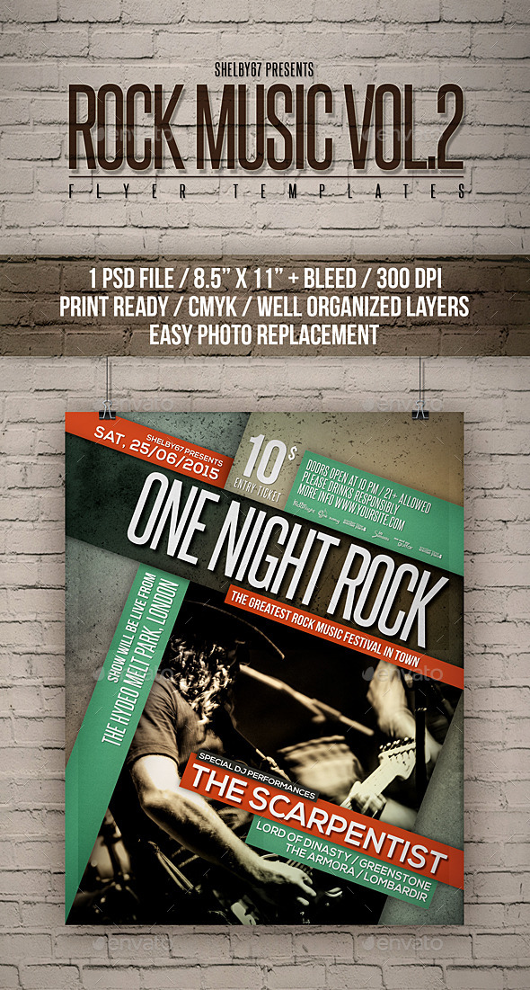 Rock Music Flyer Templates Vol 2 - Events Flyers