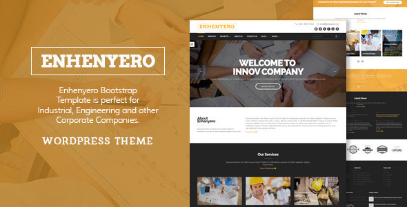 Enhenyero – Engineering/Industrial WordPress Theme