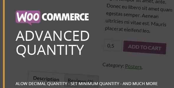 WooCommerce Advanced Quantity - CodeCanyon Item for Sale