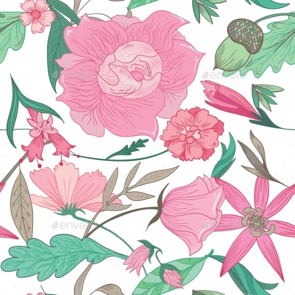 Floral Summer Pattern  - Flowers & Plants Nature