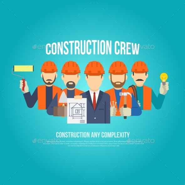Builders Concept Flat - People Characters