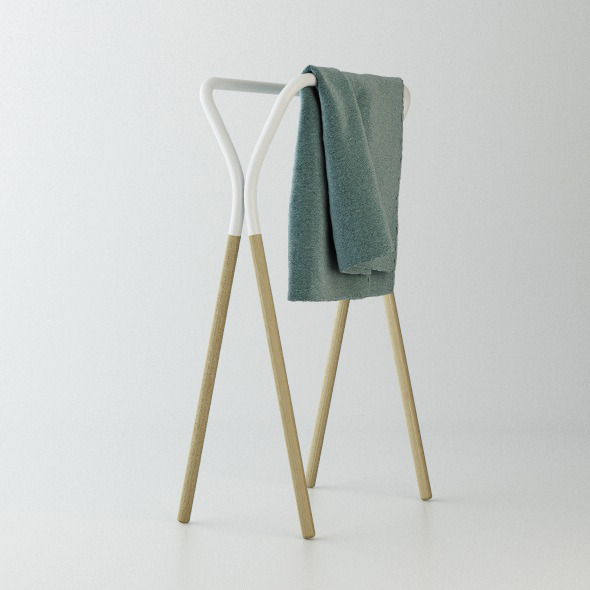 west elm Towel Rack C4D + vray - 3DOcean Item for Sale