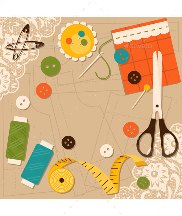 Sewing Accessories - Man-made Objects Objects