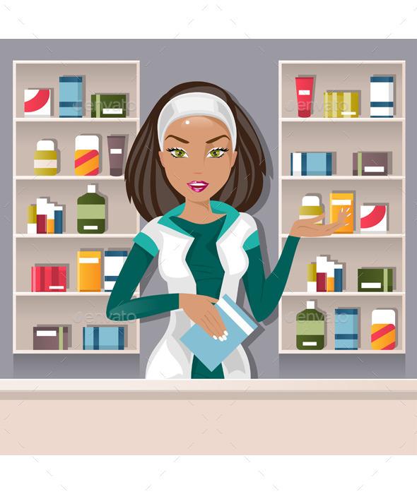 Female Pharmacist - People Characters