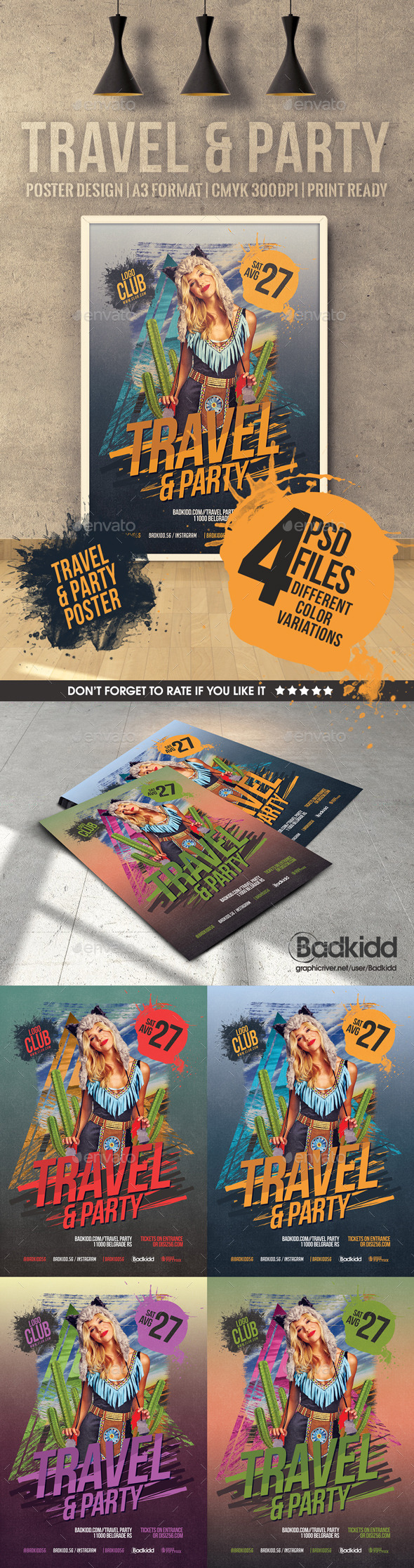 Travel & Party poster - Holidays Events