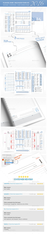 Planner-Diary-Organizer 2016 - Calendars Stationery