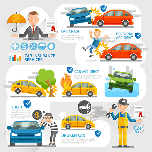 Car Insurance Business Character Template. - Concepts Business