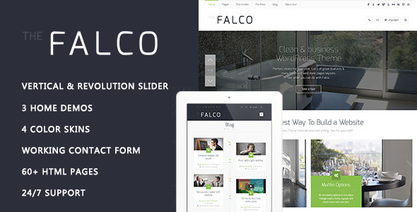 Falco – Responsive Multi-Purpose HTML Template