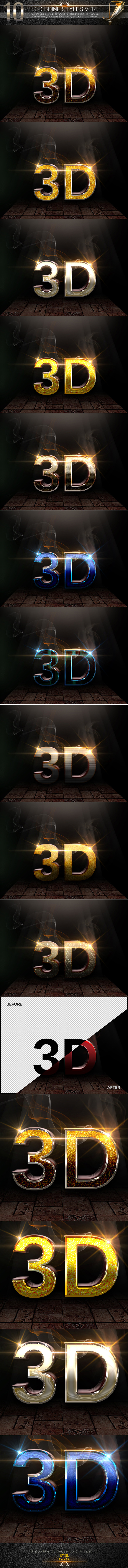 10 3D Text Styles V.47 - Text Effects Styles