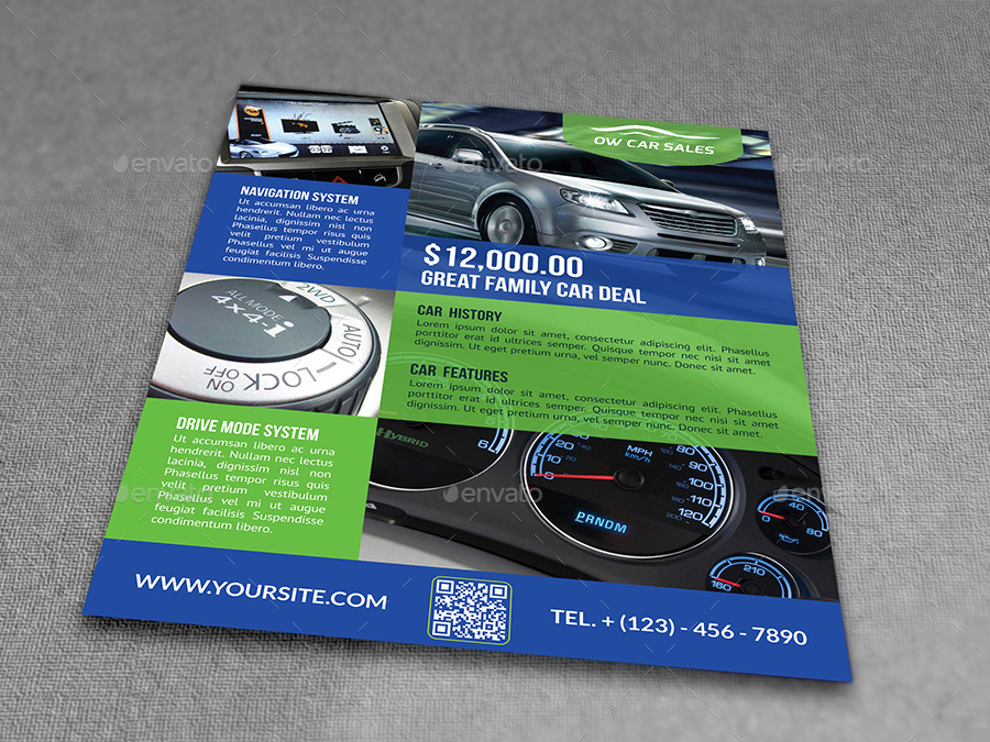 Car For Sale Flyer Template Vo.2 By Owpictures | Graphicriver