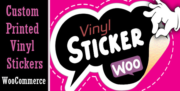 Woocommerce vinyl stickers labels design codecanyon item for sale