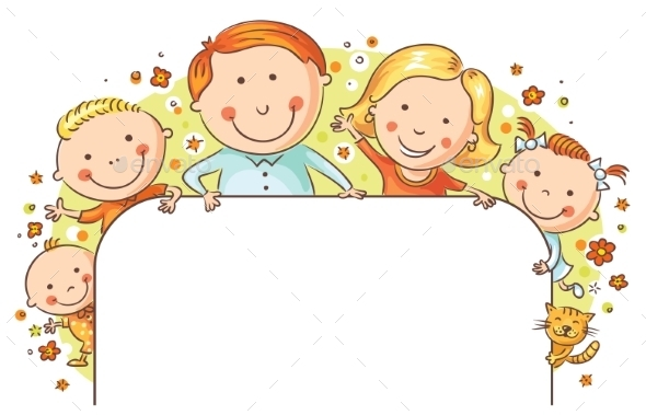 Happy Family Frame - People Characters