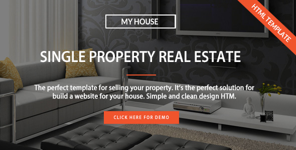 My House - Single Property Real Estate HTML Template