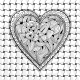 Vector Black And White Heart Pattern - GraphicRiver Item for Sale
