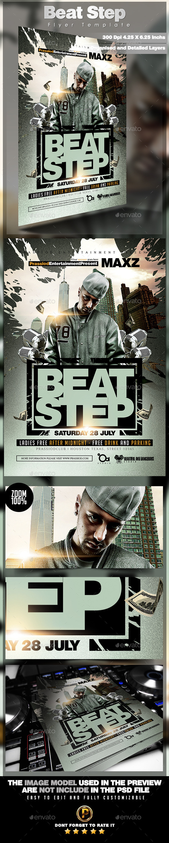 Beat Step Flyer Template - Clubs & Parties Events