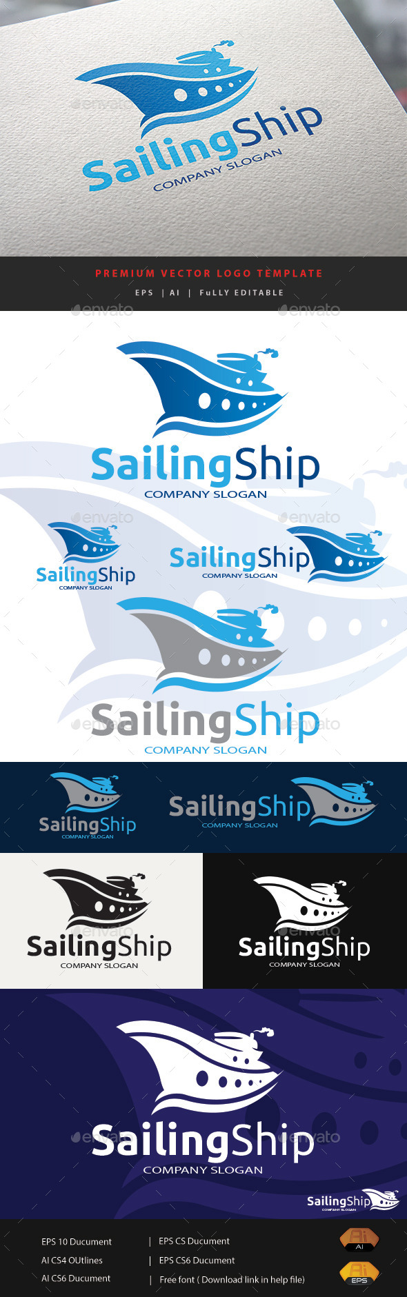 Sailing Ship - Objects Logo Templates