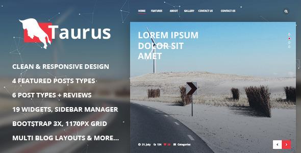 Taurus - Responsive WordPress News, Magazine, Blog