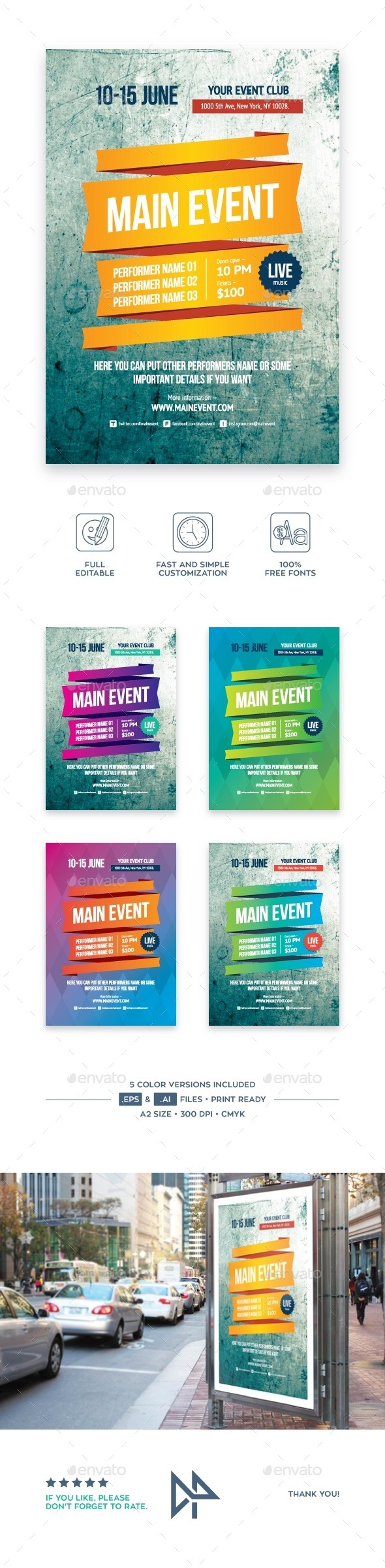Multipurpose Poster Template, Vol 3 - Events Flyers