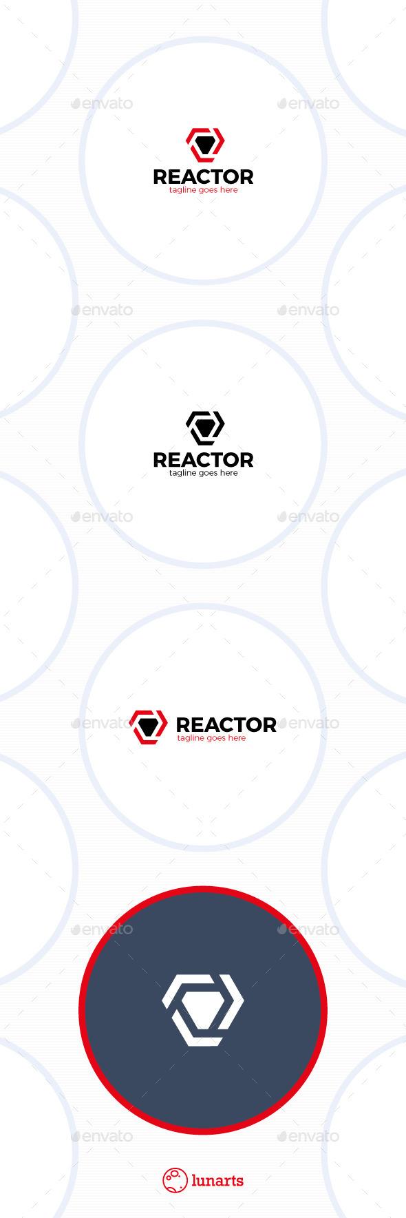 Trinity Arrow Reactor Logo - Abstract Logo Templates