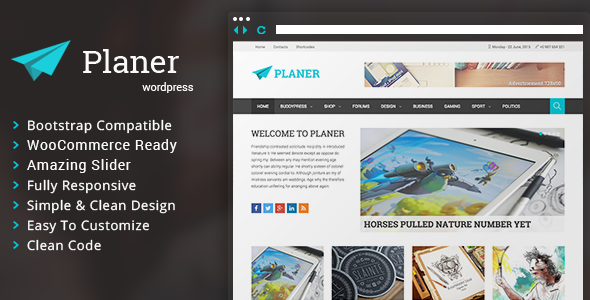 Planer – Responsive WordPress Magazine Theme
