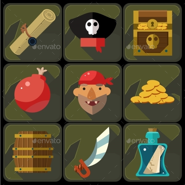 Vector Color Flat Icons Set And Illustrations - Miscellaneous Vectors