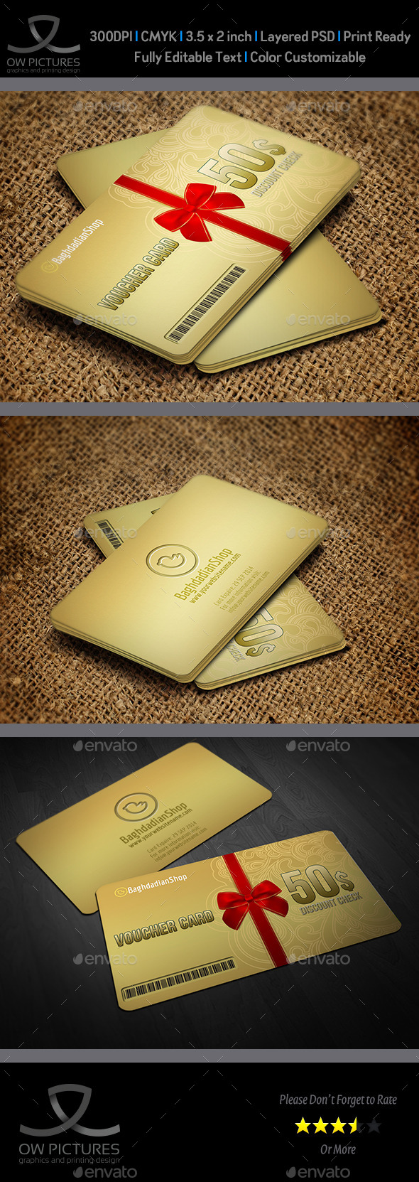 Gift Voucher Card Template Vol 17 - Cards & Invites Print Templates