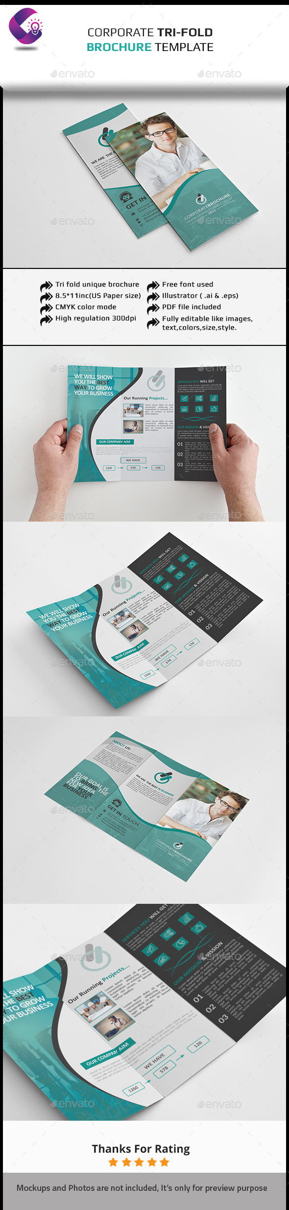 Corporate Tri-fold Brochure-Multipurpose - Corporate Brochures