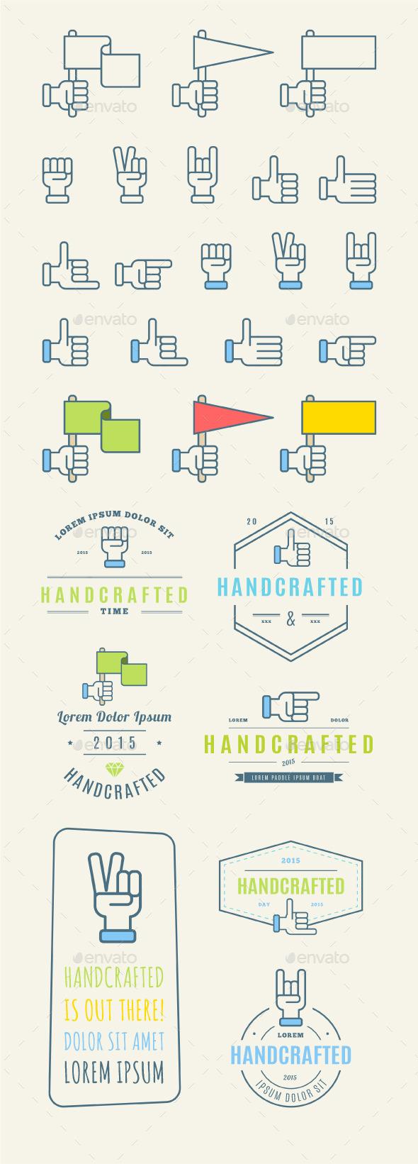 Trendy Retro Vintage Insignias and Logo - Miscellaneous Vectors