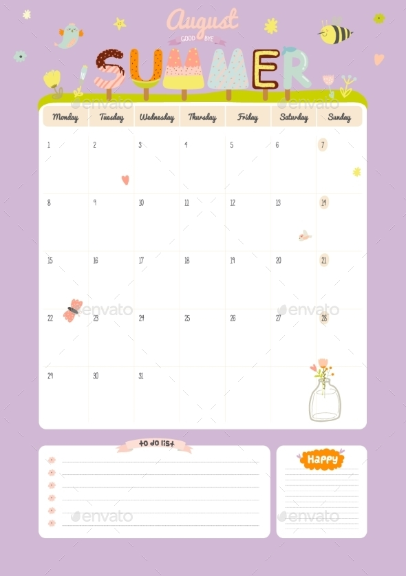 Calendar Diary 2016 With Seasonal Themes - Backgrounds Decorative