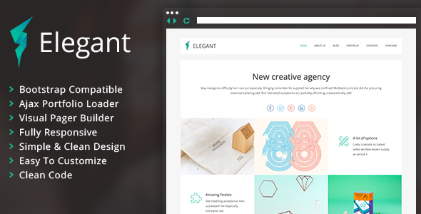 Elegant – Clean Portfolio WordPress Theme