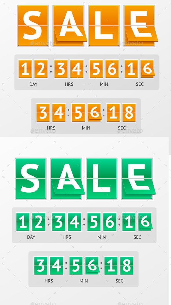 Vector Countdown Timer Sale - Commercial / Shopping Conceptual