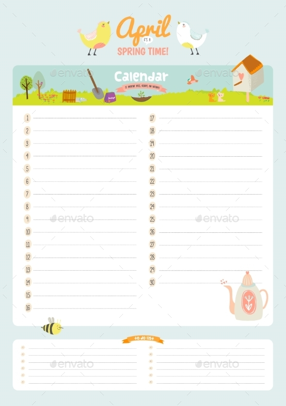 Calendar Diary 2016 With Seasonal Themes - Backgrounds Decorative