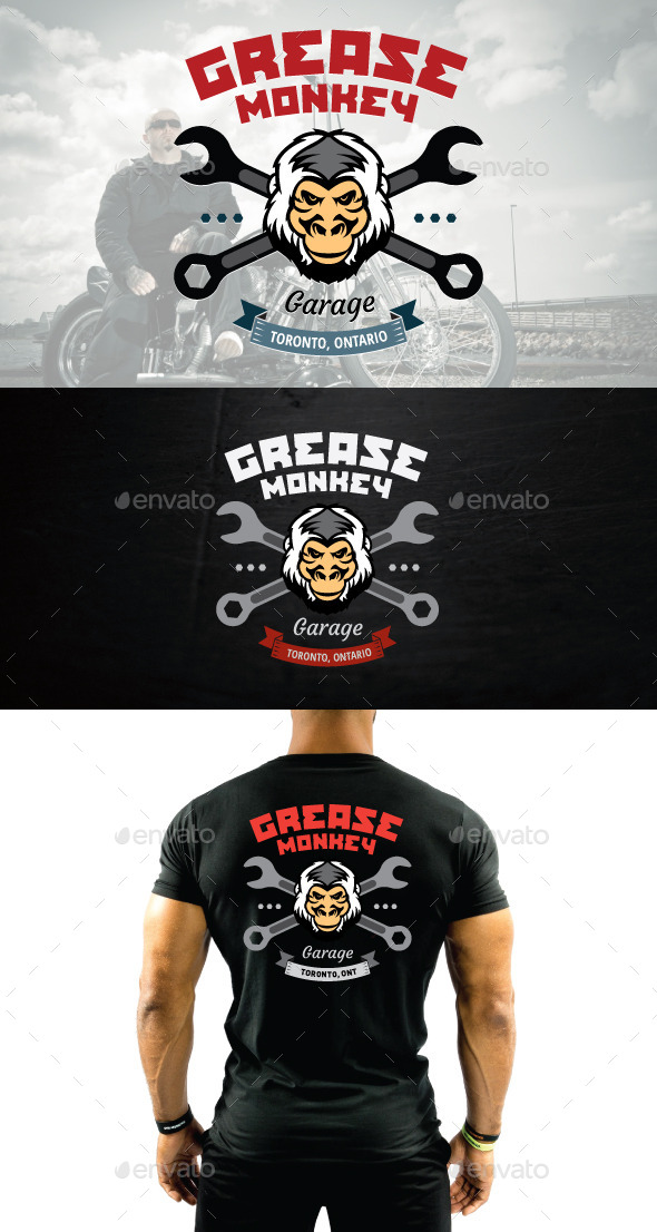 Mechanic or Motorcycle Shop Vector Logo - Crests Logo Templates