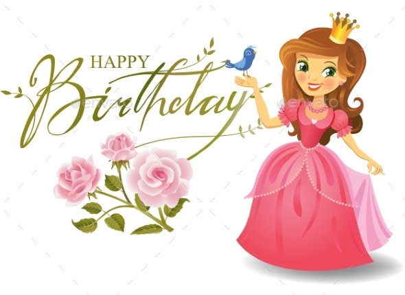 Happy Birthday, Princess, Greeting Card.  - Birthdays Seasons/Holidays