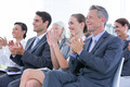 Business team applauding during conference in the office - PhotoDune Item for Sale